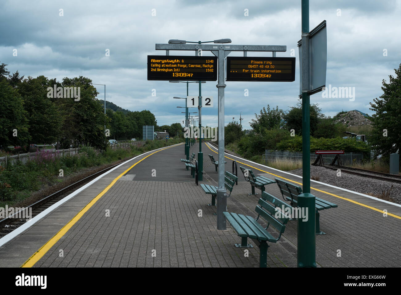 train indicators, Welshpool station - Stock Image