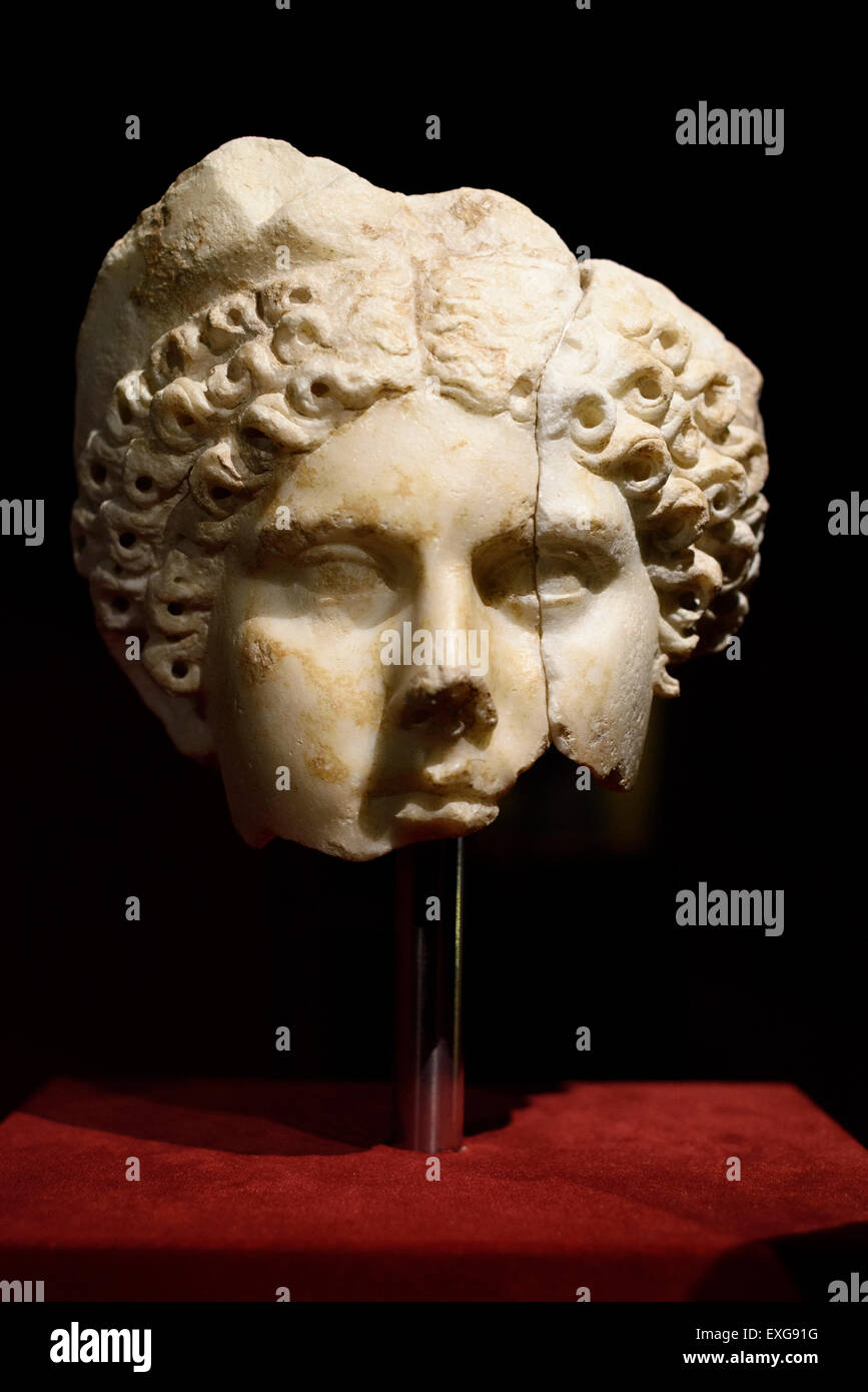 Rome. Italy.  Portrait of Agrippina the Younger (After 50 AD). Palazzo Massimo alle Terme, Museo Nazionale Romano. - Stock Image