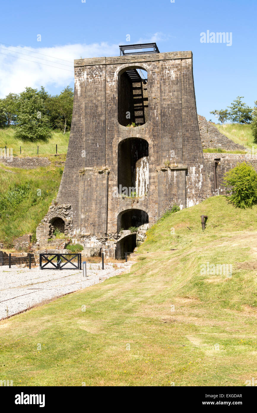 Ironworks museum industrial archaeology,  UNESCO World Heritage site, Blaenavon, Monmouthshire, South Wales, UK Stock Photo
