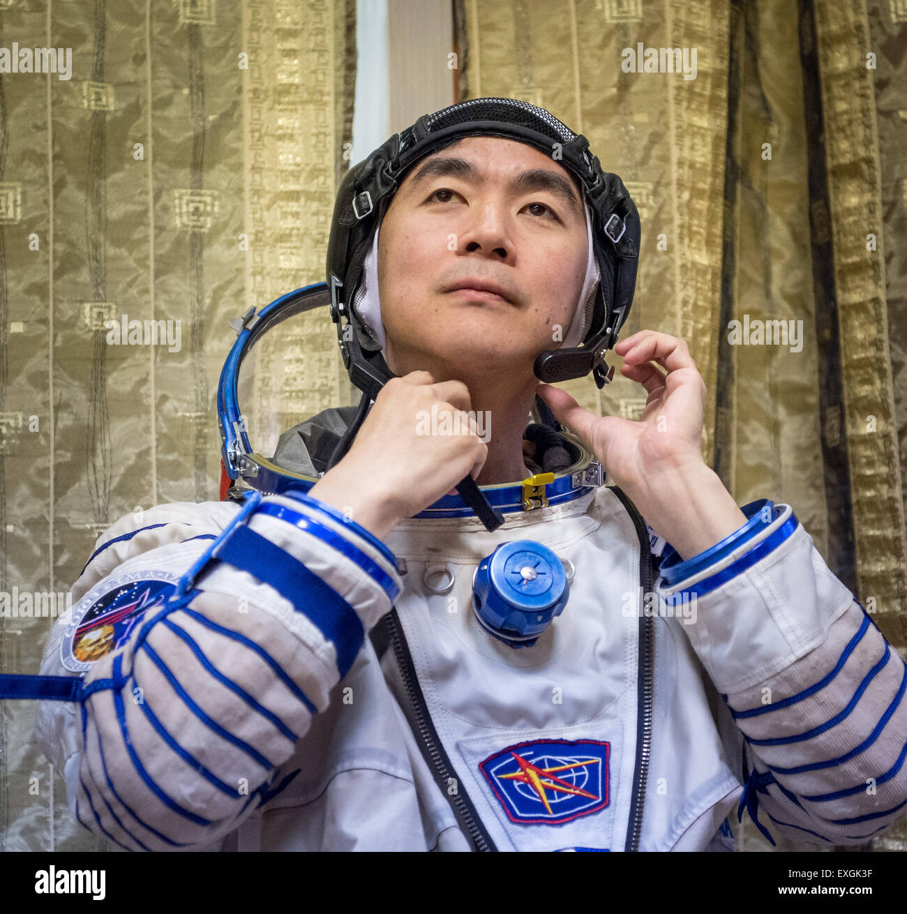 Japan Aerospace Exploration Agency astronaut Kimiya Yui participates in the second day of qualification exams, with - Stock Image
