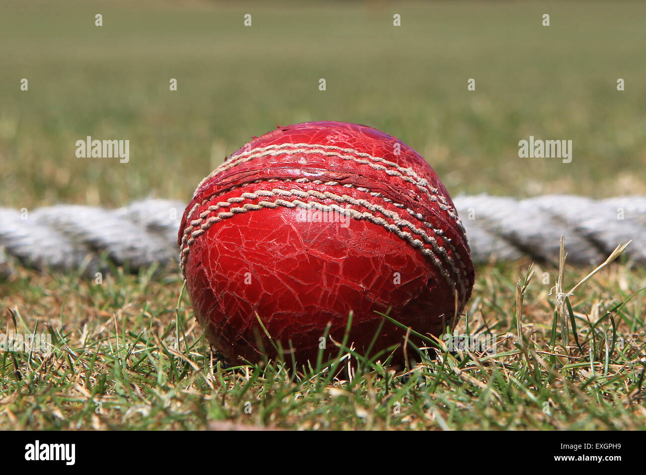 Cricket - Kent Cricket League Division IV 1st XI - Faversham Cricket Club v Cowdrey Cricket Club Stock Photo