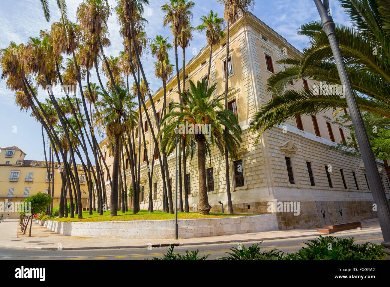 Palace of the Customs Office in Malaga, Spain - Stock Image