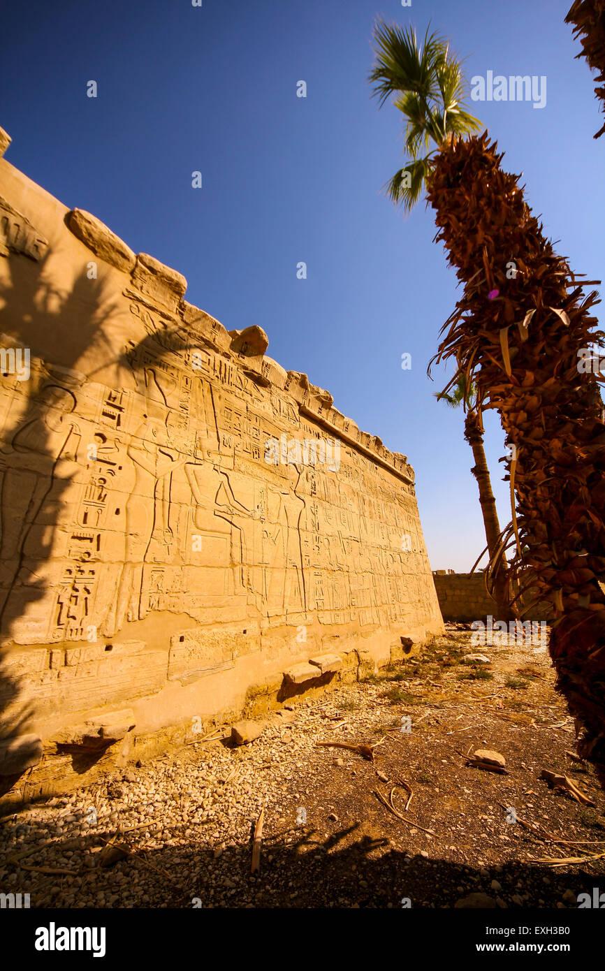 Karnak Temple, Karnak, Thebes, UNESCO World Heritage Site, Egypt, Africa - Stock Image