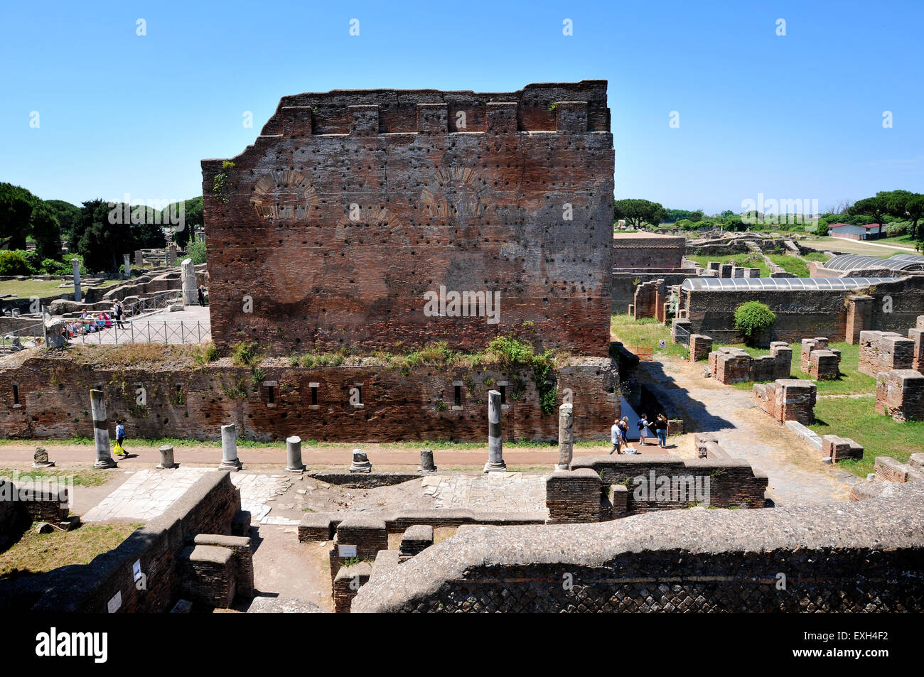 View of the ruins of Ostia Antica, the ancient port of Rome Italy. Picture by Paul Heyes, Tuesday June 2, 2015. - Stock Image