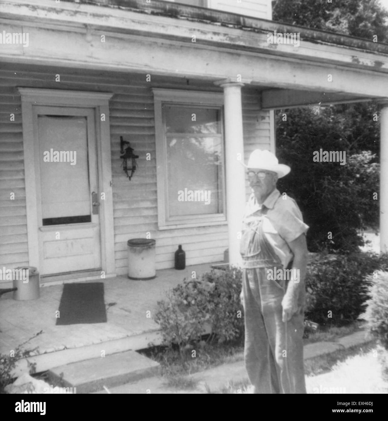 BW Harder at his house near Whitewater, Kansas 1 - Stock Image