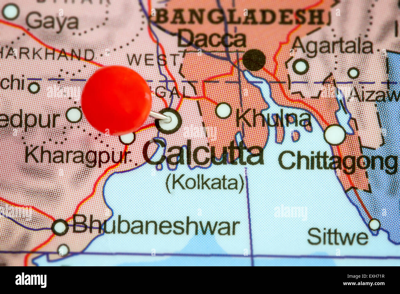 Map Of Calcutta Stock Photos & Map Of Calcutta Stock Images - Alamy