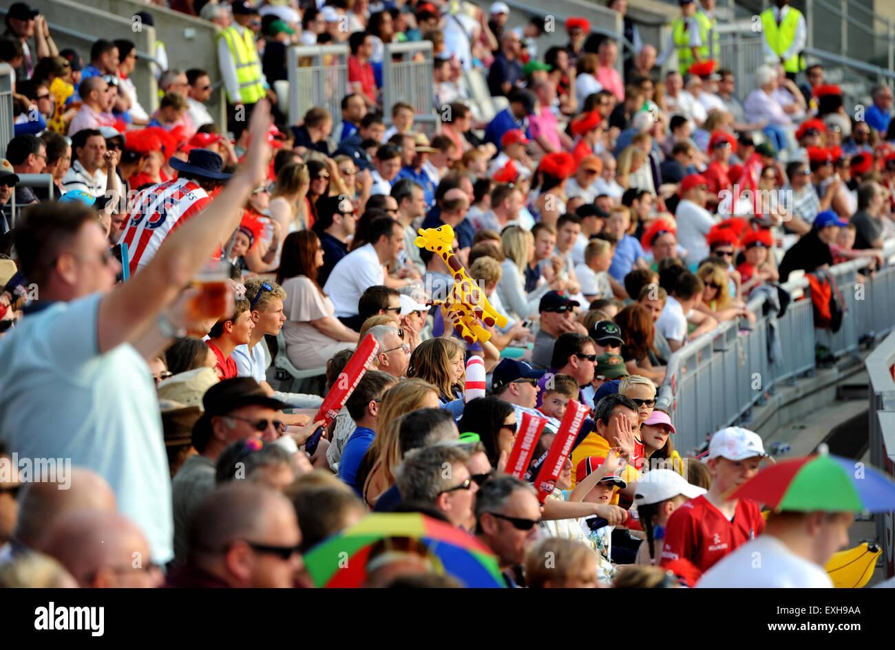 Emirates Old Trafford, Manchester. T20 Blast cricket Lancashire v Yorkshire, May 2015. - Stock Image