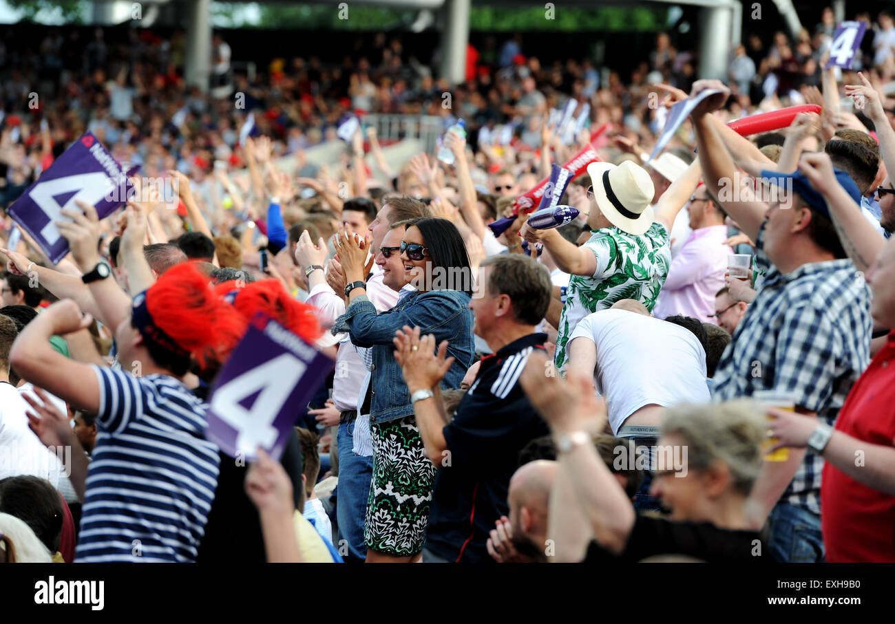 Emirates Old Trafford, Manchester. T20 Blast cricket Lancashire v Yorkshire, May 2015. - Stock Image