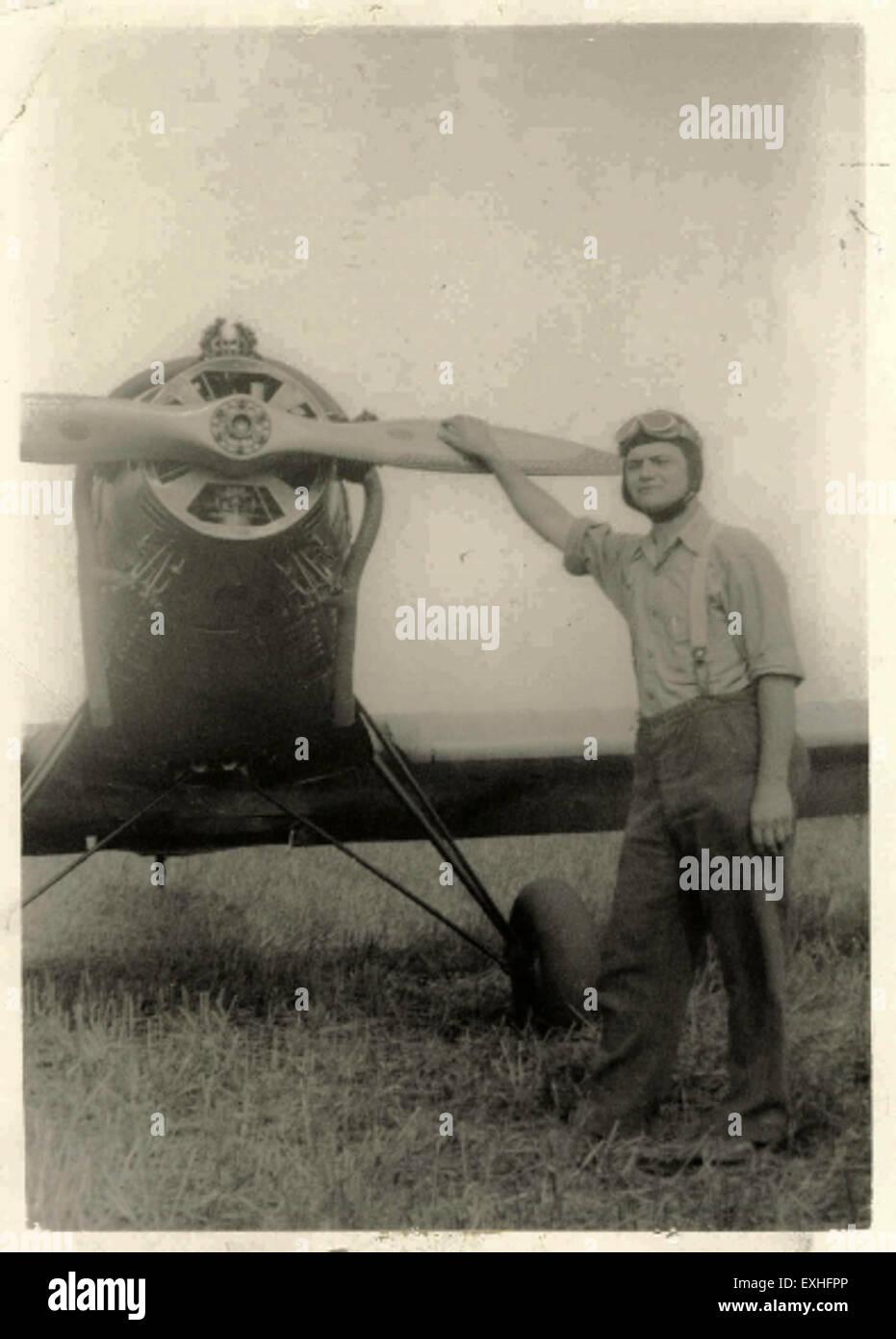 Linford Hackman, circa 1940 1 - Stock Image