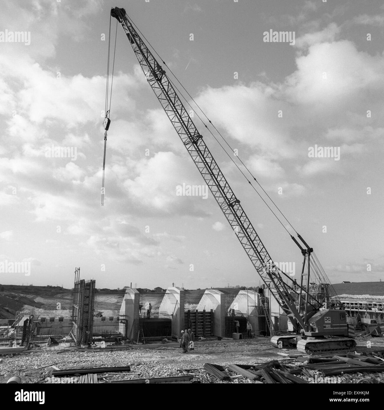 Civil Engineering, works by Manchester Ship Canal Company in early 1990s - Stock Image