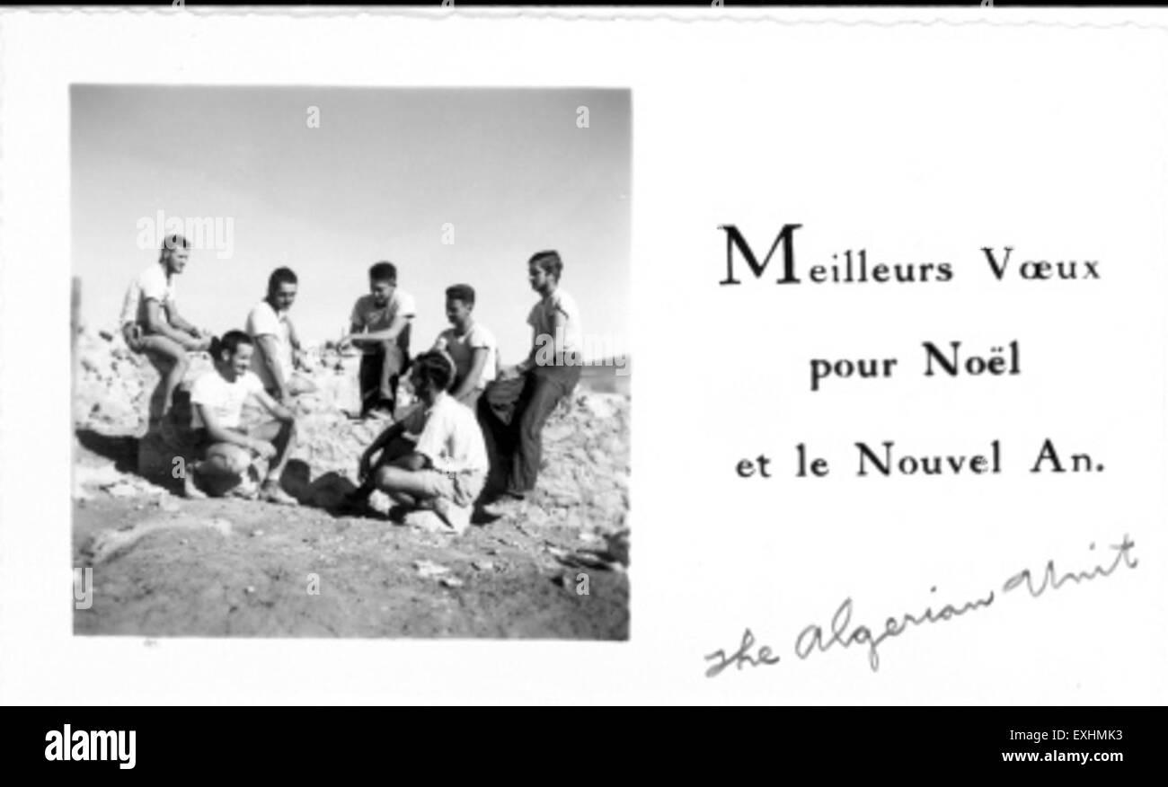 Algerian Unit in 1955 - Stock Image