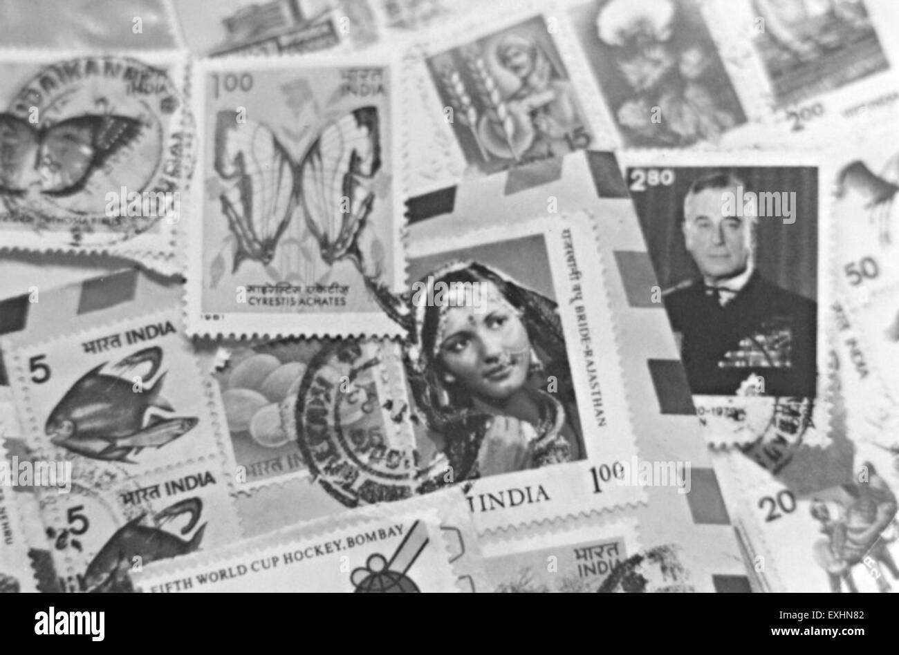 Postage stamps, India, 1982 1 - Stock Image