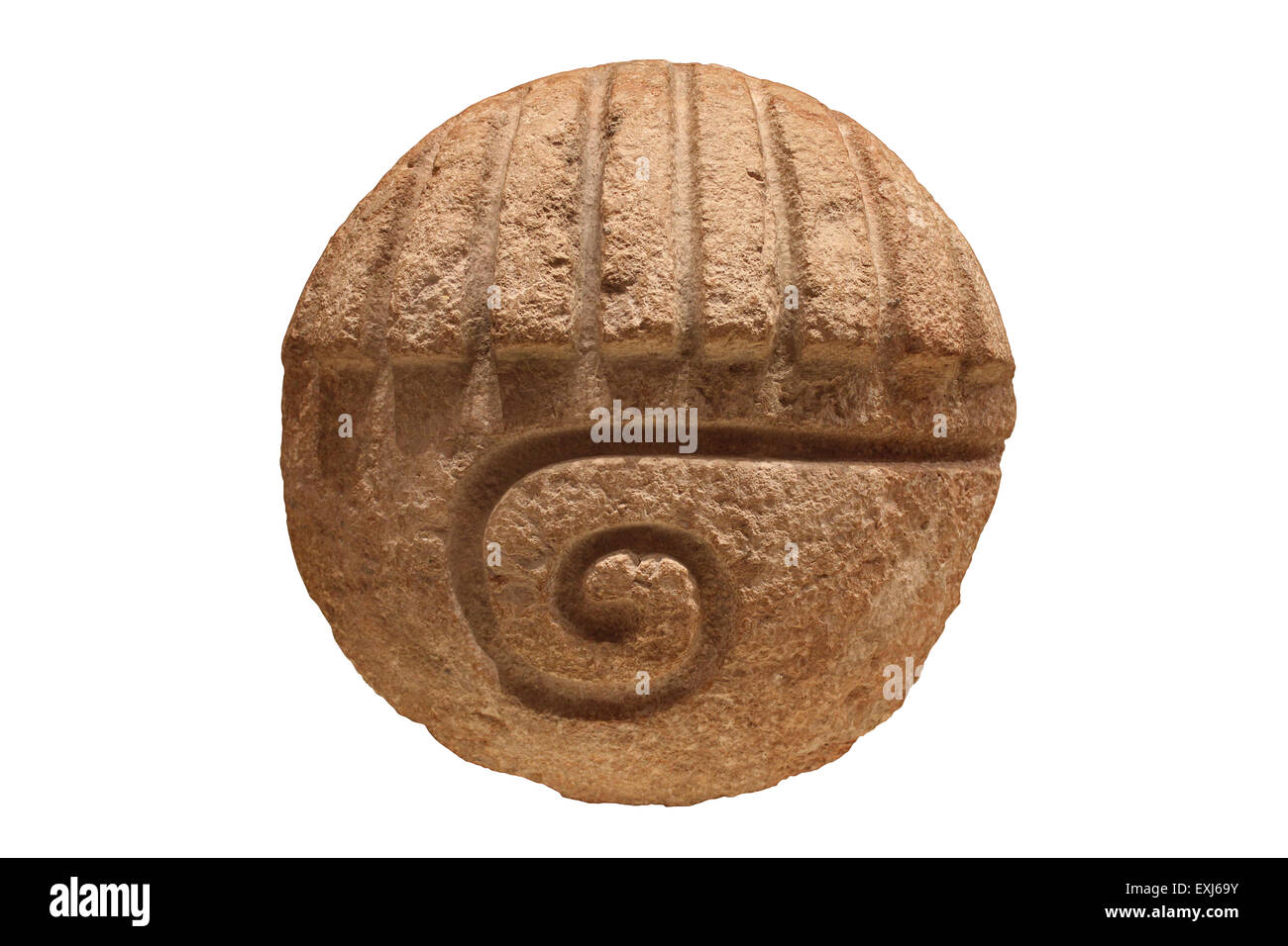 Mayan Sculpture Late Classic Period AD 600-900 Unknown Provenance - Stock Image