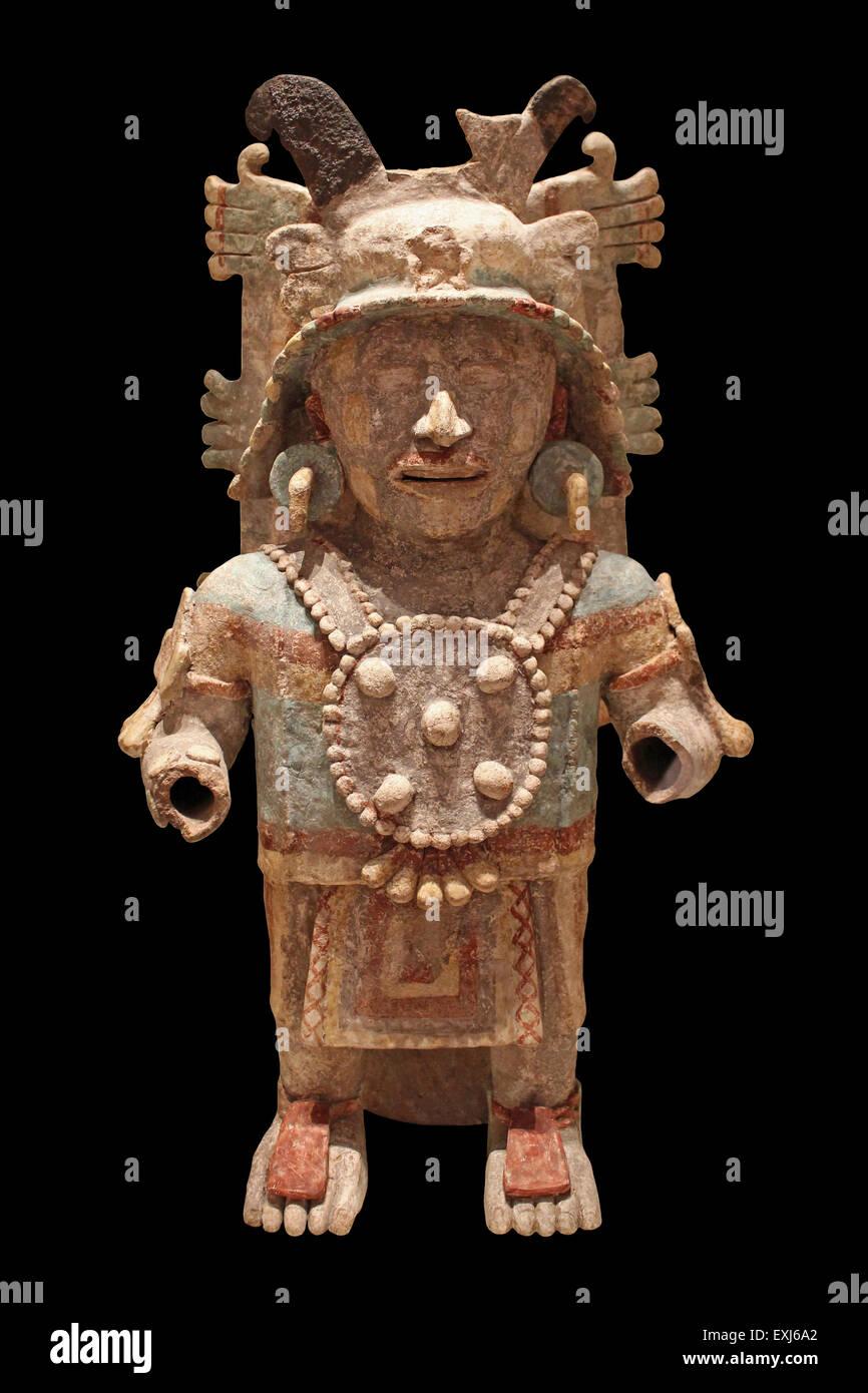 Censer Mayapan, Yucatán Peninsula, Mexico Late Post-classic Period (AD1250-1550) - Stock Image