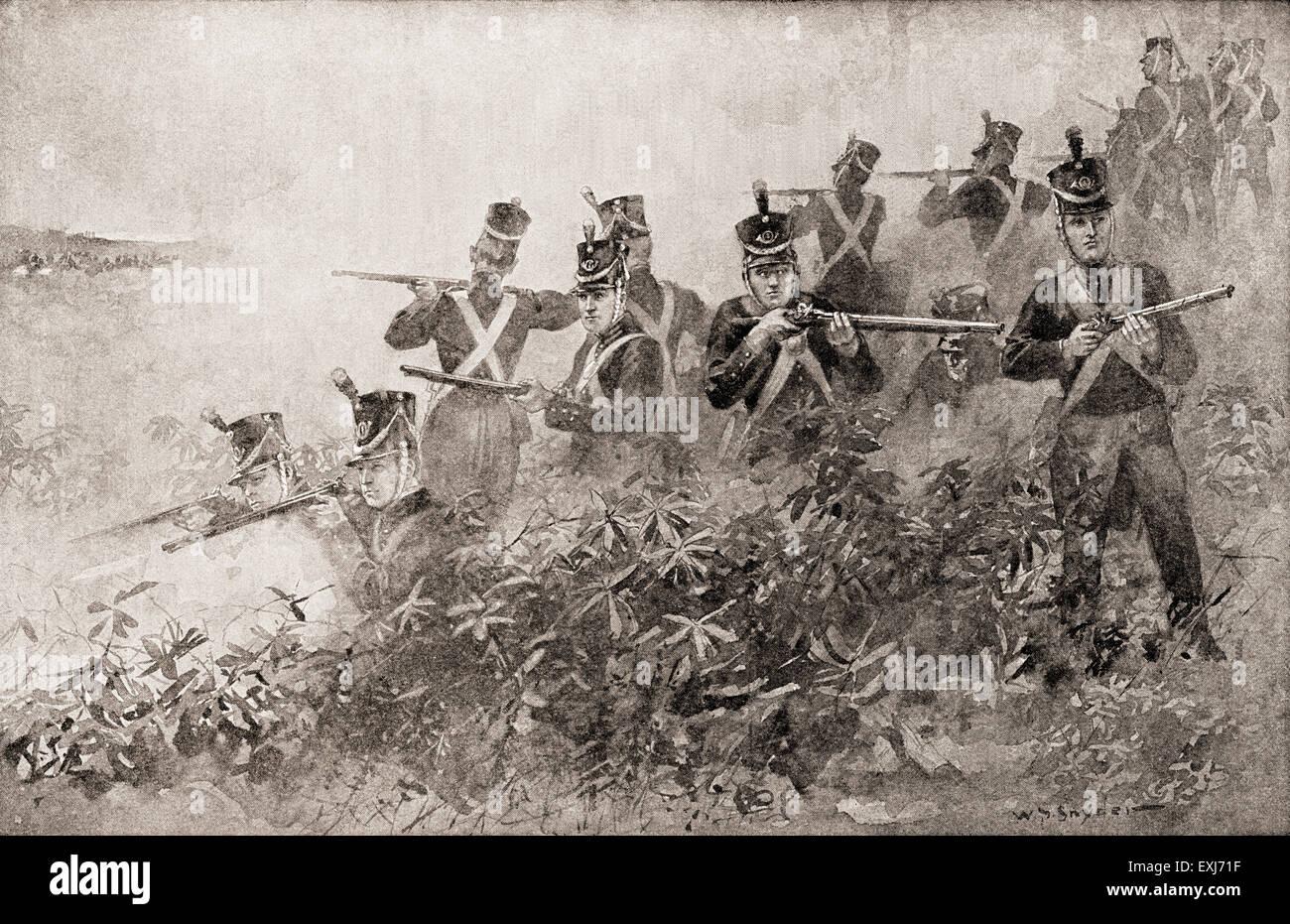 The Battle of  Tippecanoe,  November 7, 1811, during Tecumseh's War. - Stock Image