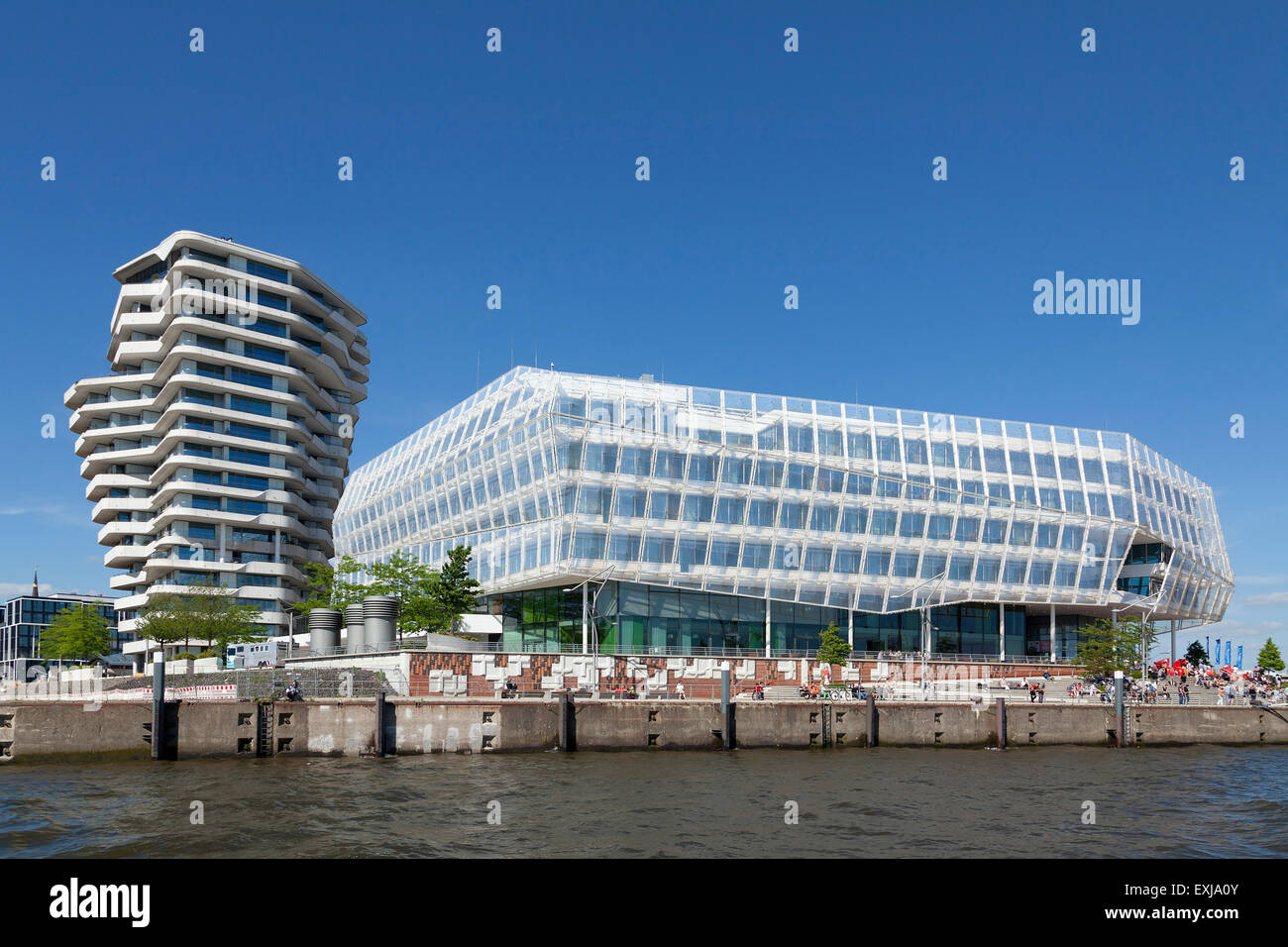 Marco Polo Tower, Unilever House, Harbour City, Hamburg, Germany - Stock Image