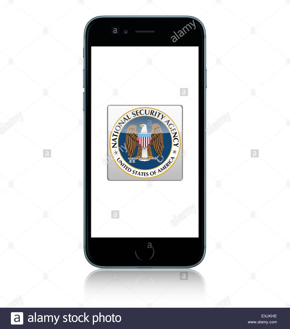 NSA app icon logo - Stock Image