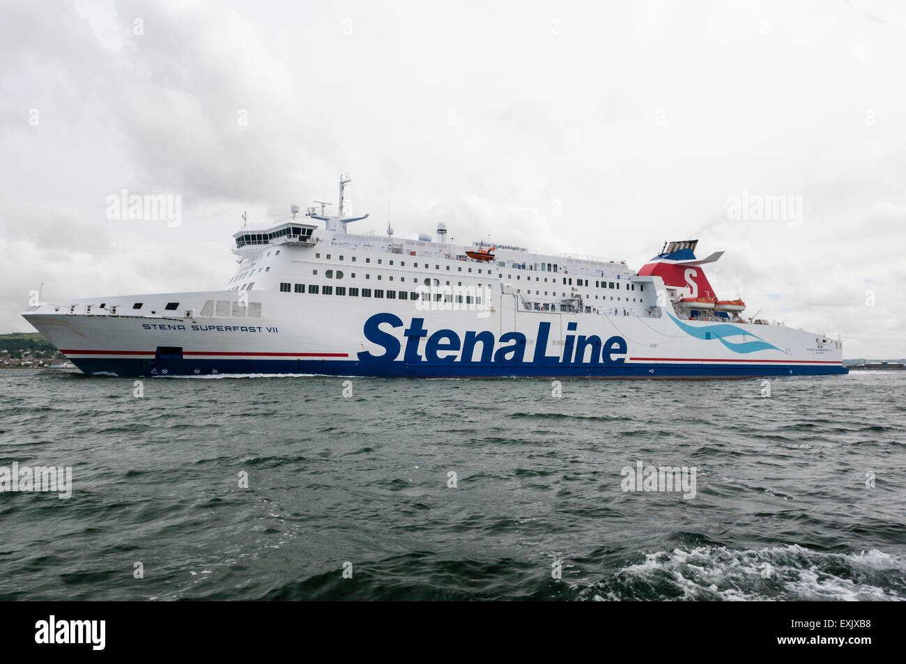 Stenaline Superfast VII leaving Belfast - Stock Image