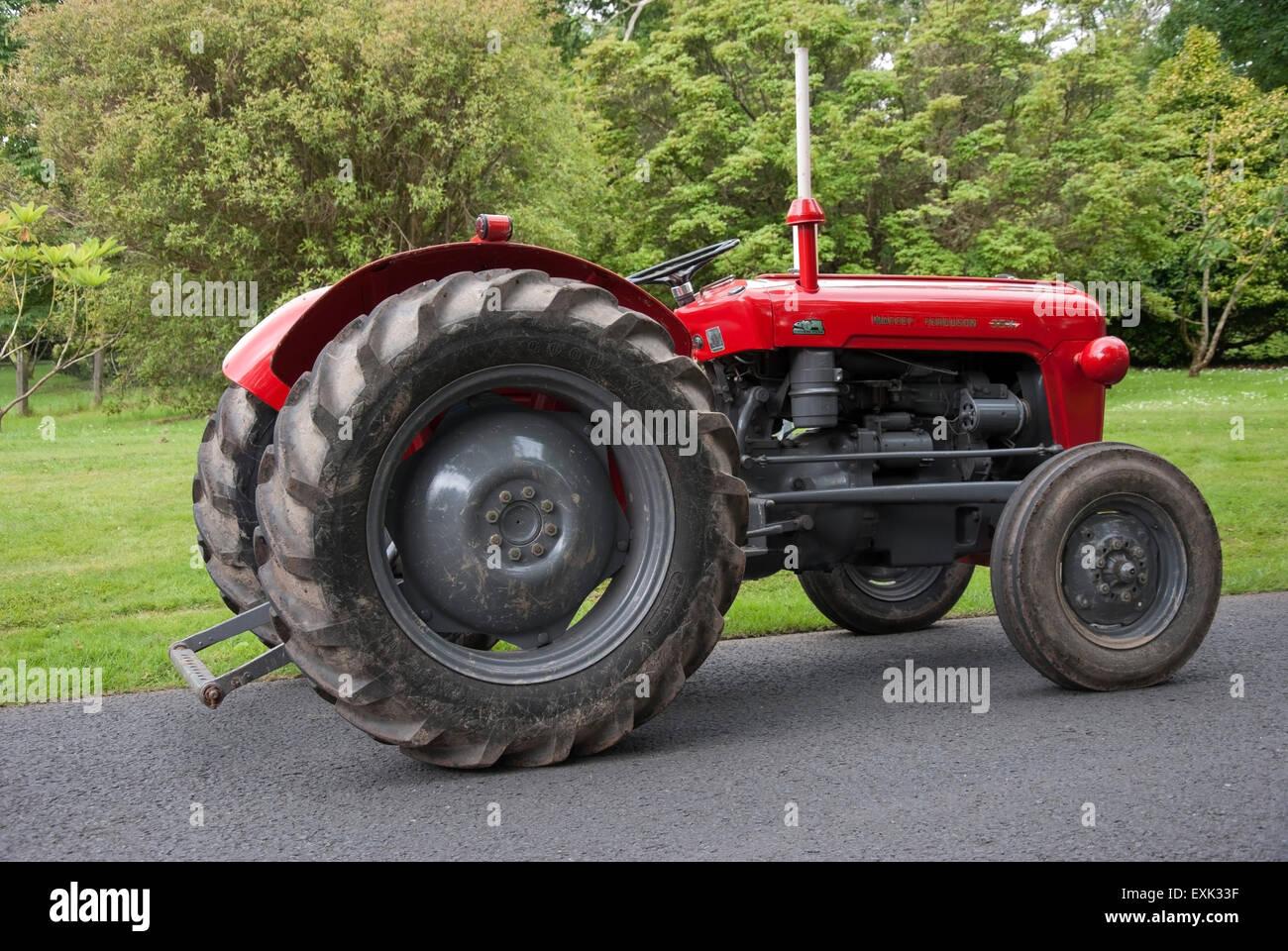 Massey Ferguson Model 35 : Red massey ferguson model farm tractor stock