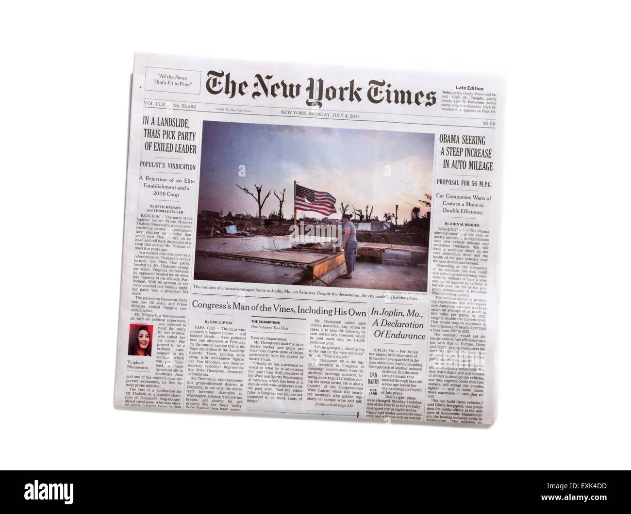 The New York Times newspaper - Stock Image