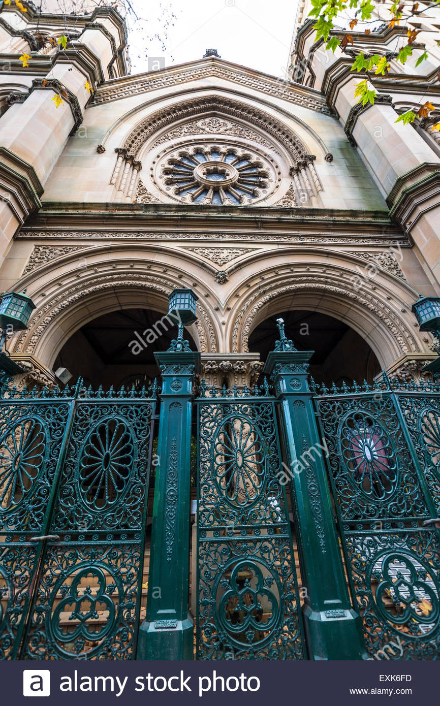 Great Synagogue, Elizabeth Street facade, Sydney, Australia - Stock Image