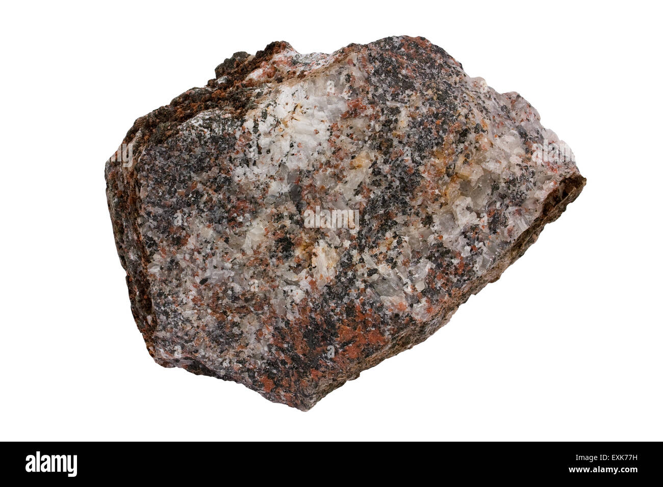 Fenite with carbonatite - Stock Image