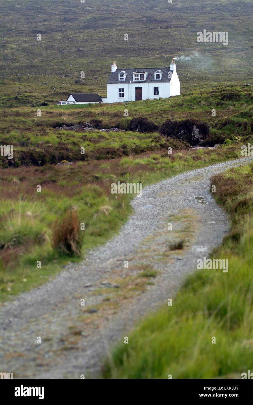 Lonely house on the isle of skye, scotland, UK, Europe - Stock Image