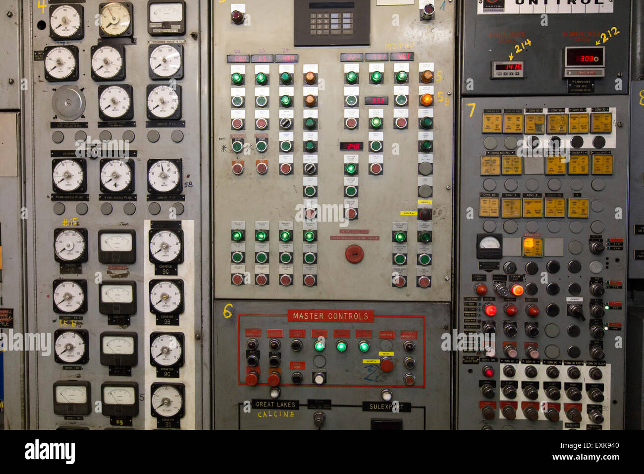 power plant control panel - Stock Image