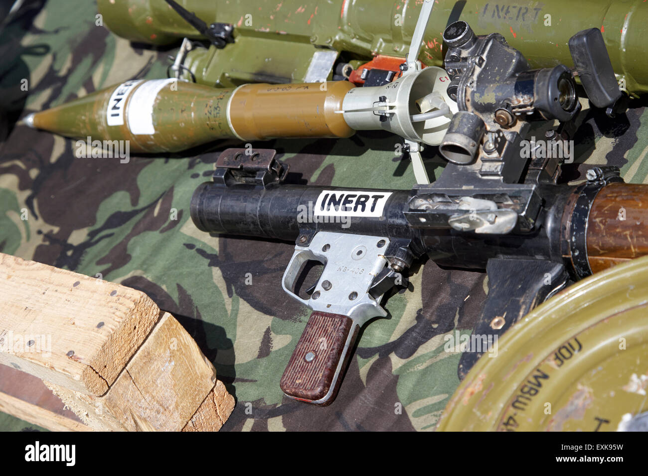 inert rpg rocket propelled grenade used for military training purposes recovered from afghanistan - Stock Image