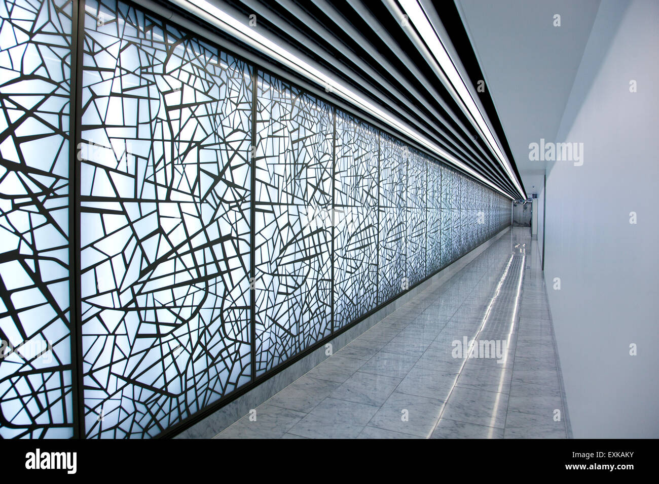A modern abstract style corridor - Stock Image