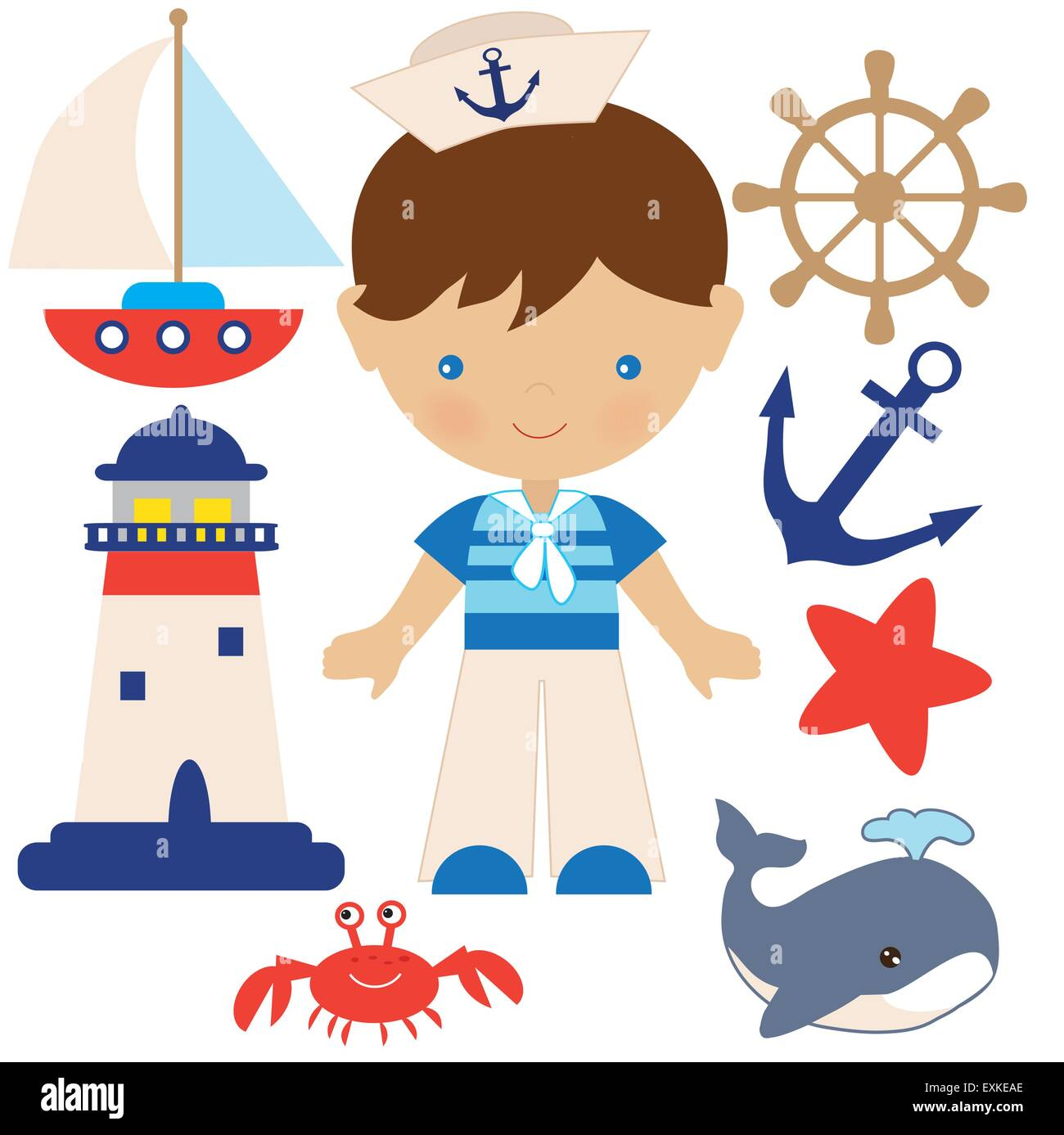 nautical boy sailor lighthouse  vector cartoon stock free lighthouse clipart business cards free lighthouse clipart with thank you