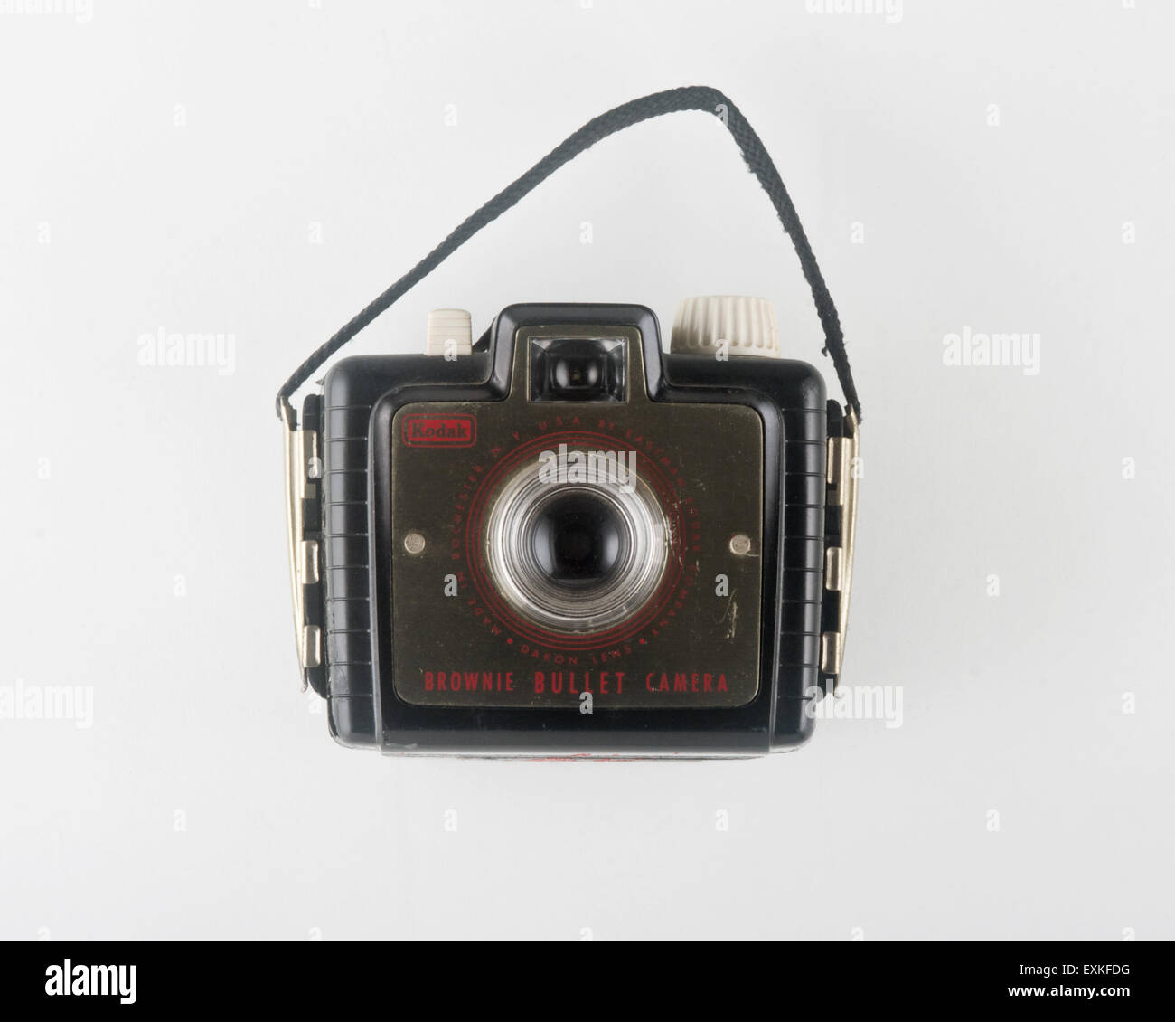 Block out photo of a Kodak Brownie Bullet camera. - Stock Image