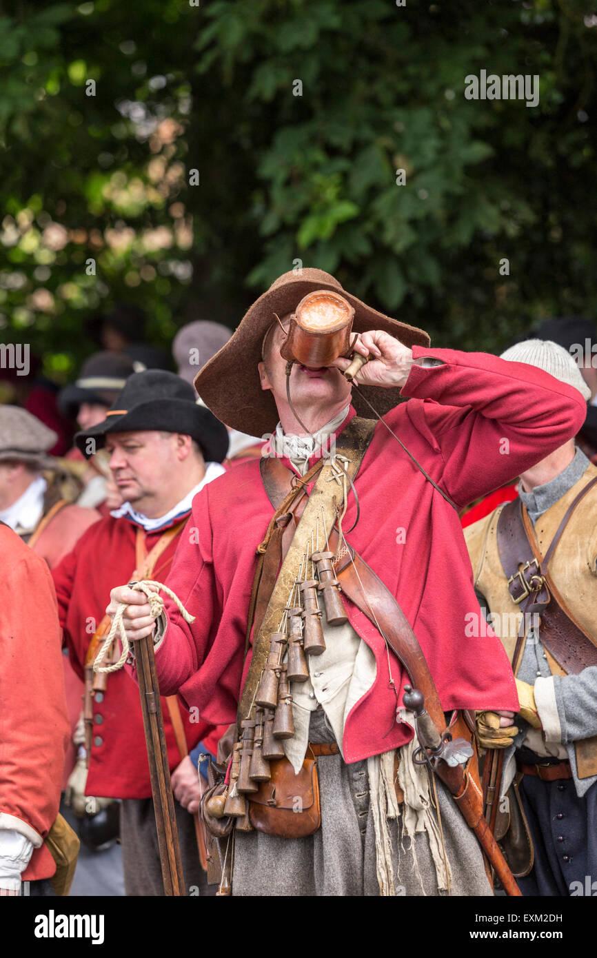 War Reenactment Northamptonshire Sealed Knot Stock Photos & War