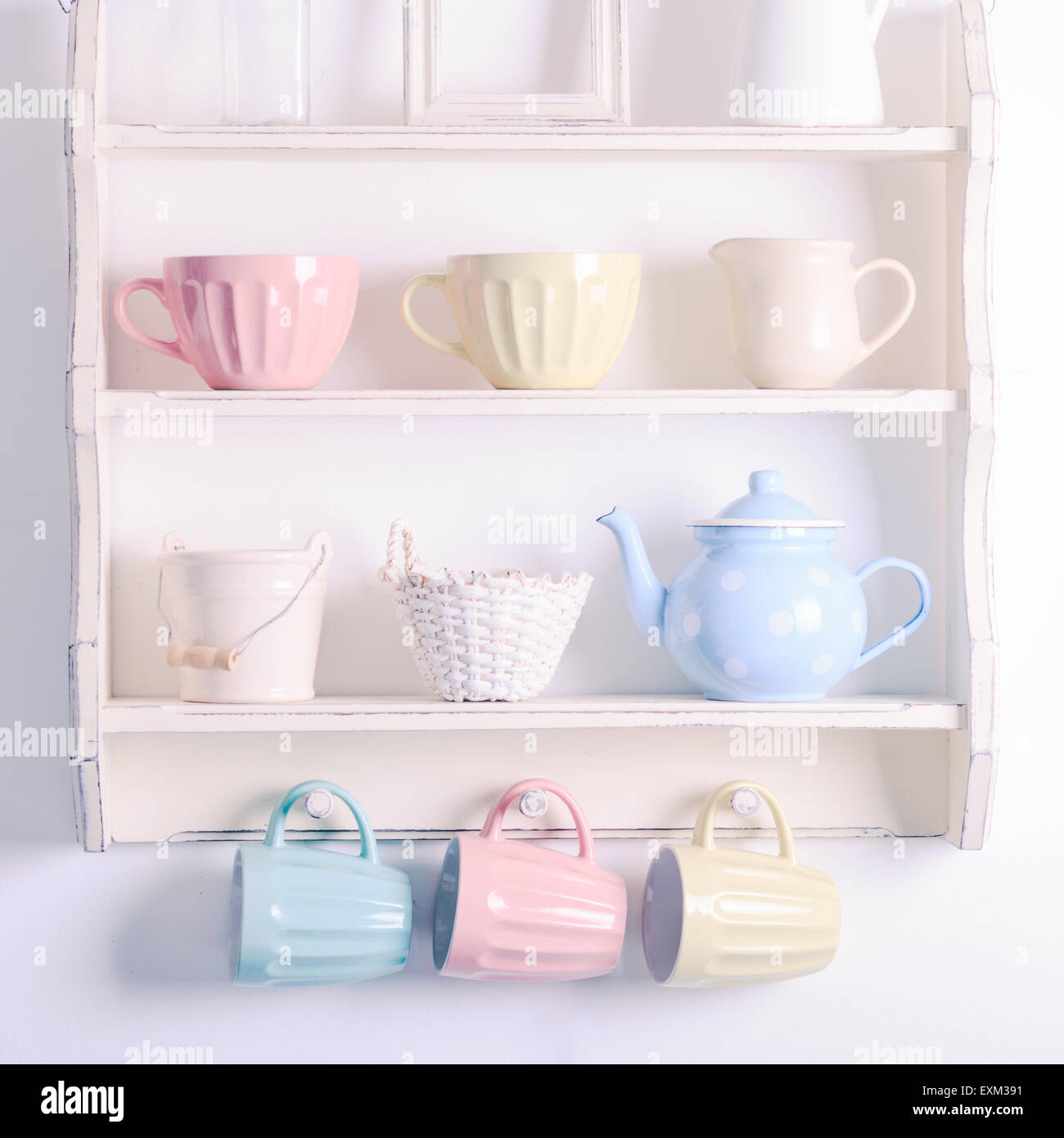 Vintage shelf - Stock Image