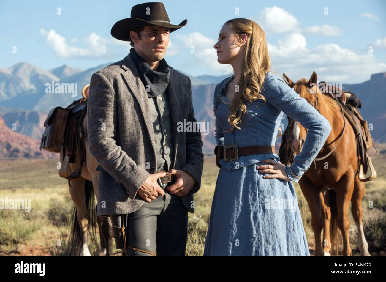 WESTWORLD 2015 HBO TV series with Evan Rachel Wood and James Marsden - Stock Image