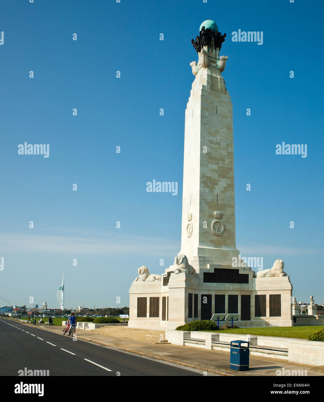 The Southsea Naval War Memorial, Portsmouth. - Stock Image