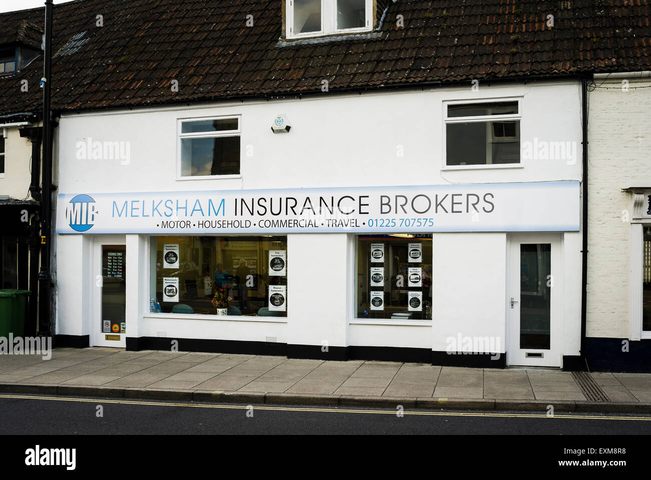 Melksham Insurance Brokers premises in Melksham UK - Stock Image