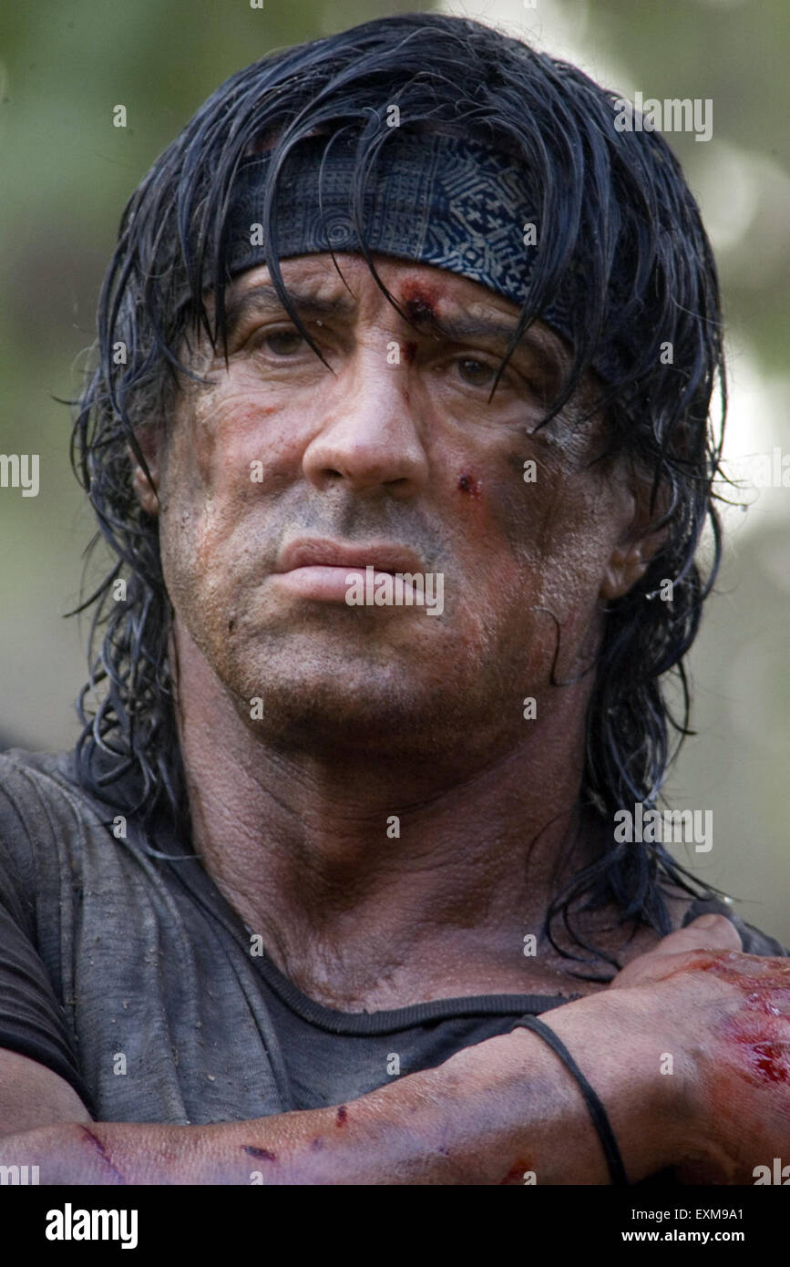 Rambo (also known as Rambo IV, John Rambo or Rambo: The Fight Continues) is a 2008 American-German action film directed, - Stock Image