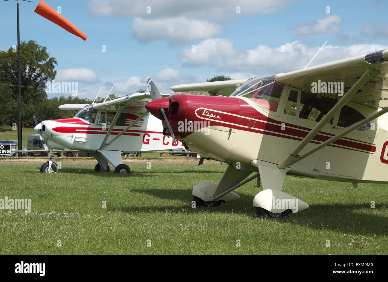 Vintage Piper Pa-22 Tri-Pacer and Colt ( to rear ) aircraft built