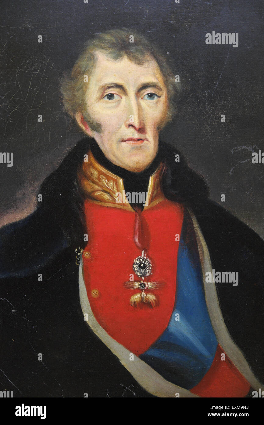 Duke of Wellington portrait painting - Stock Image