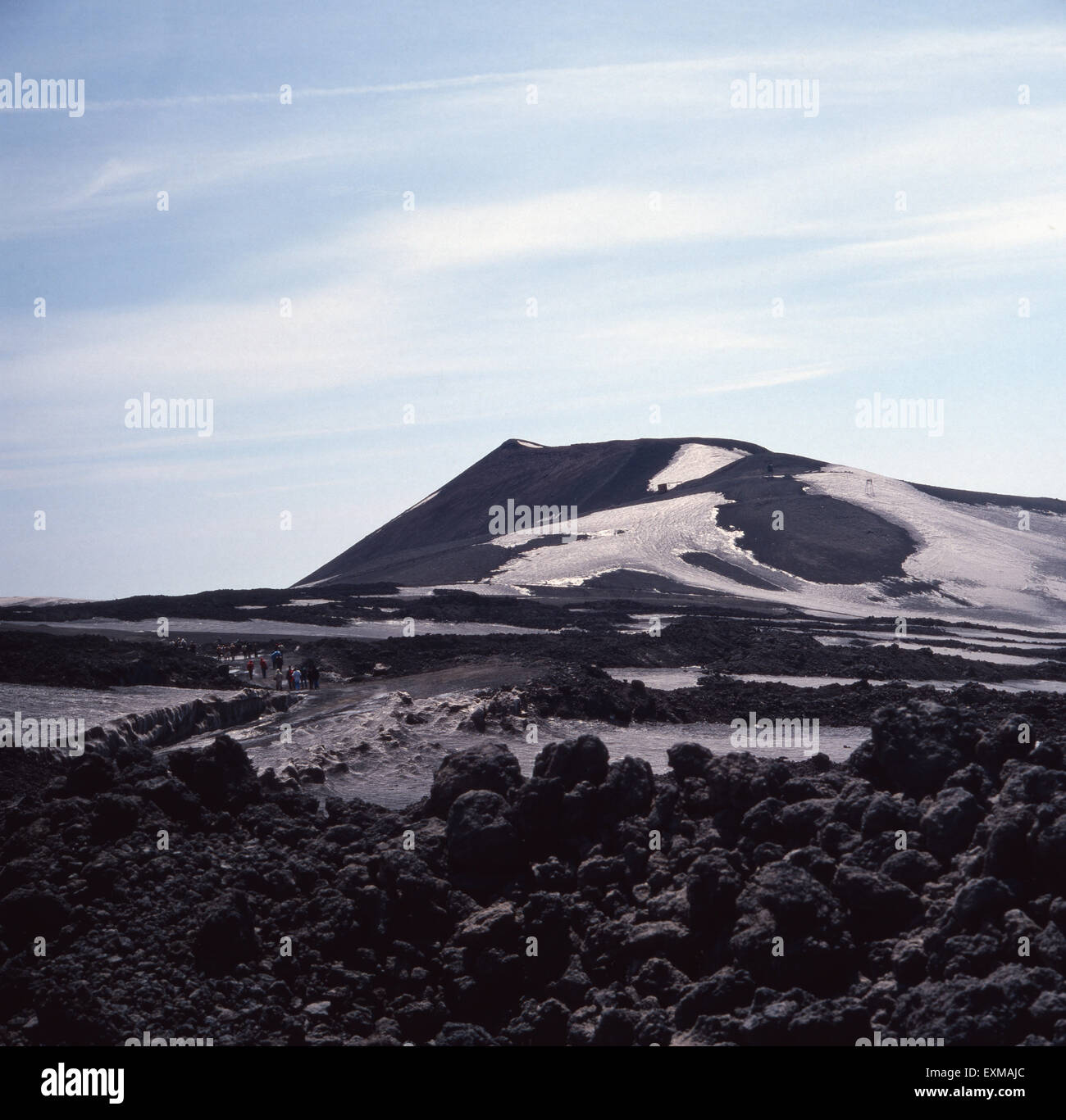 Der Vulkan Ätna in Sizilien, Italien 1970er Jahre. Mount Etna in Sicily, Italy 1970s. - Stock Image