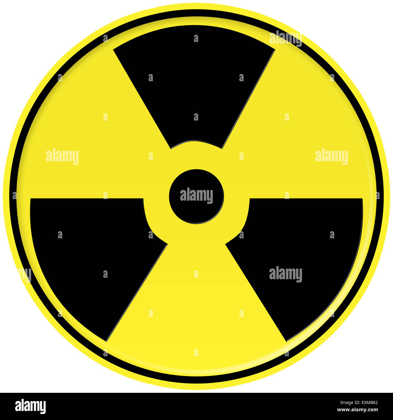Yellow and black Nuclear icon - Stock Image