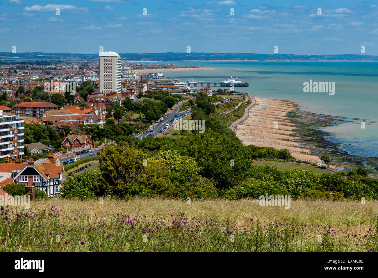 Elevated Views Of Eastbourne, Sussex, UK - Stock Image