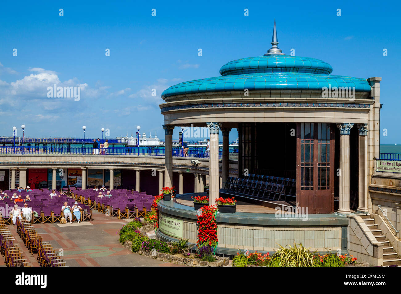 The Bandstand, Eastbourne, Sussex, UK - Stock Image