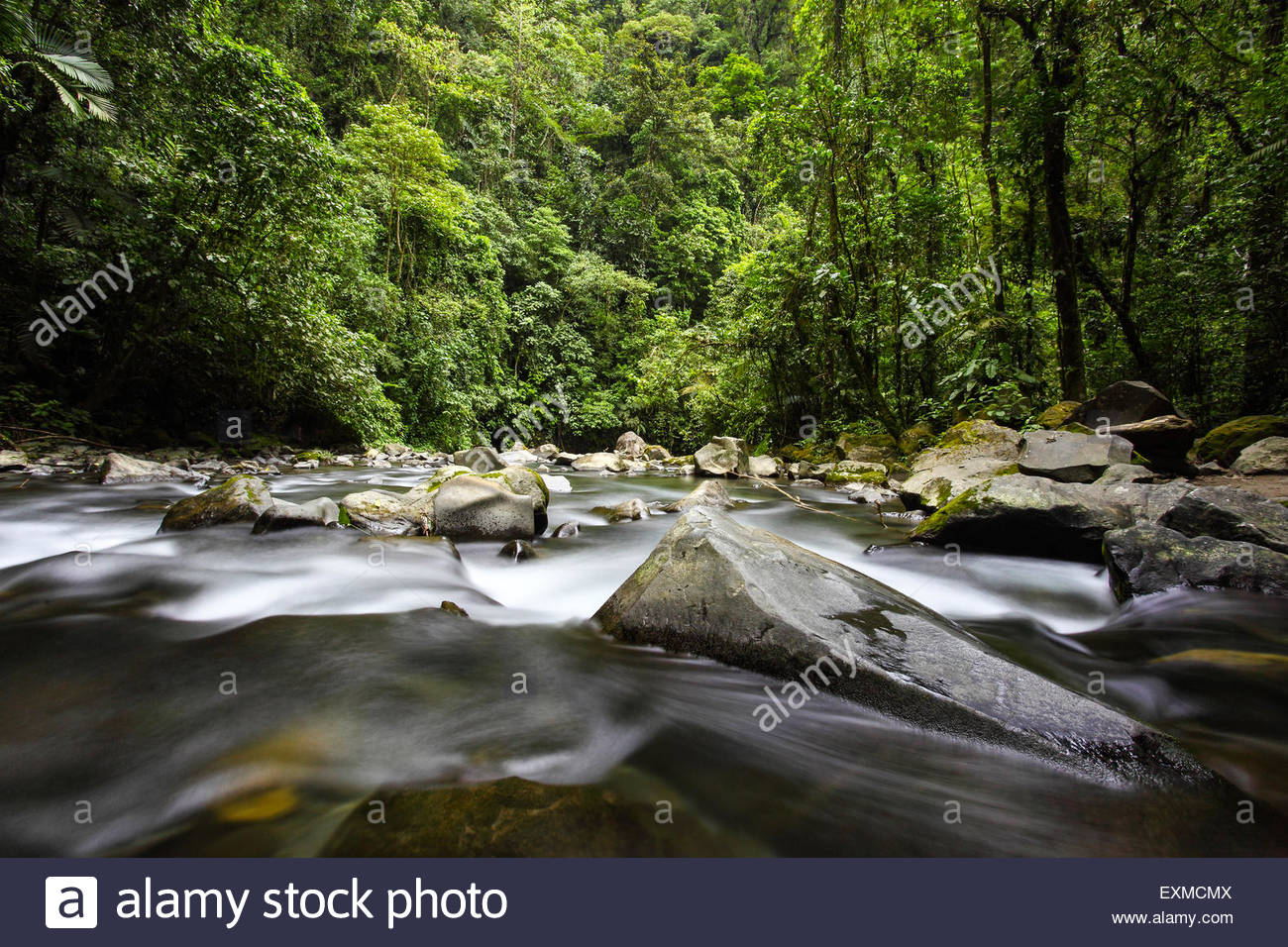 La Fortuna river at La Fortuna, Costa Rica - Stock Image