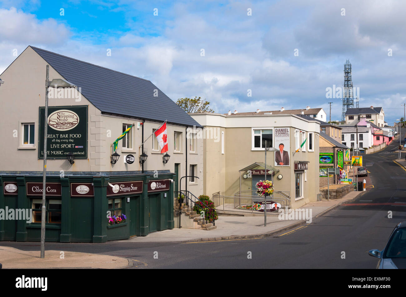 An Clochán Liath, Dungloe or Dunglow in English, is a Gaeltacht town in County Donegal, Ireland. - Stock Image