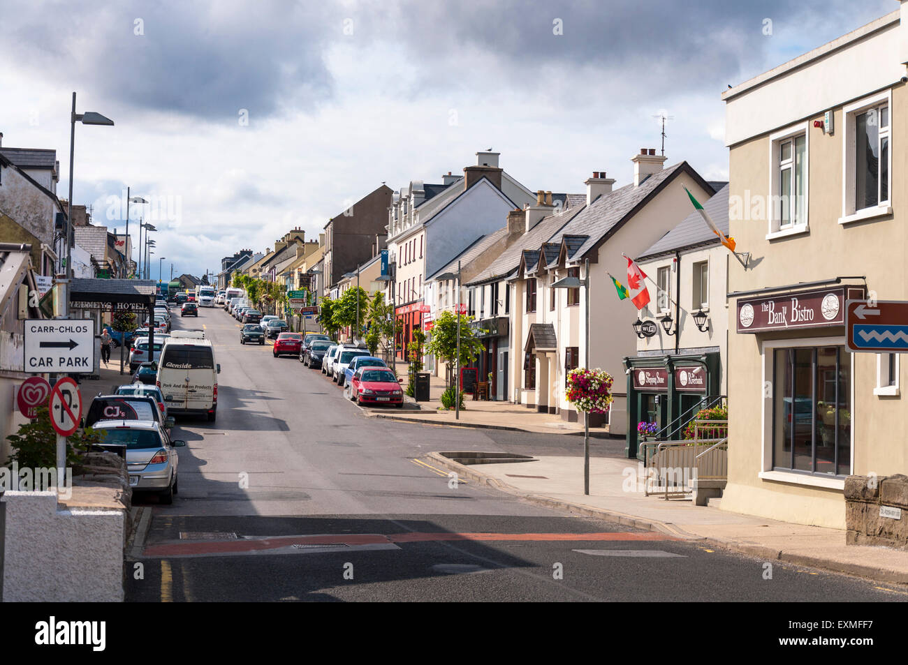 An Clochán Liath, Dungloe or Dunglow is a Gaeltacht town in County Donegal, Ireland. It is the main town in - Stock Image