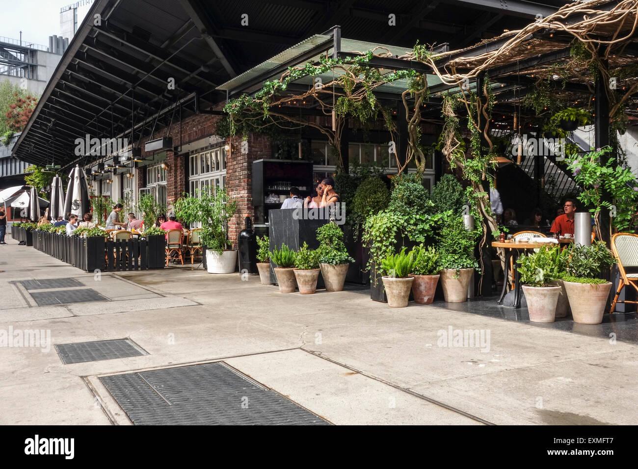 The Standard, grill restaurant, High Line, Boutique Hotel, Manhattan, New York City, USA. Stock Photo