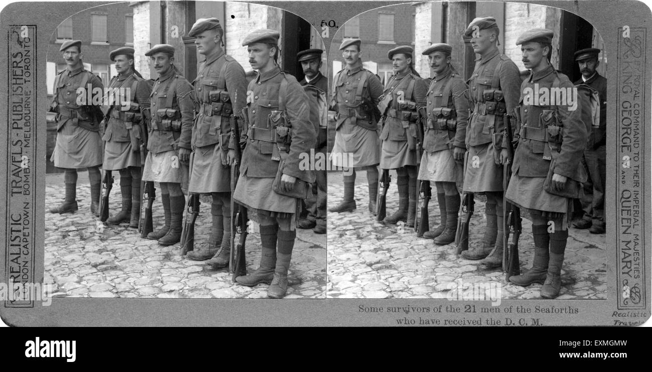 Old picture first world war's soldier - Stock Image