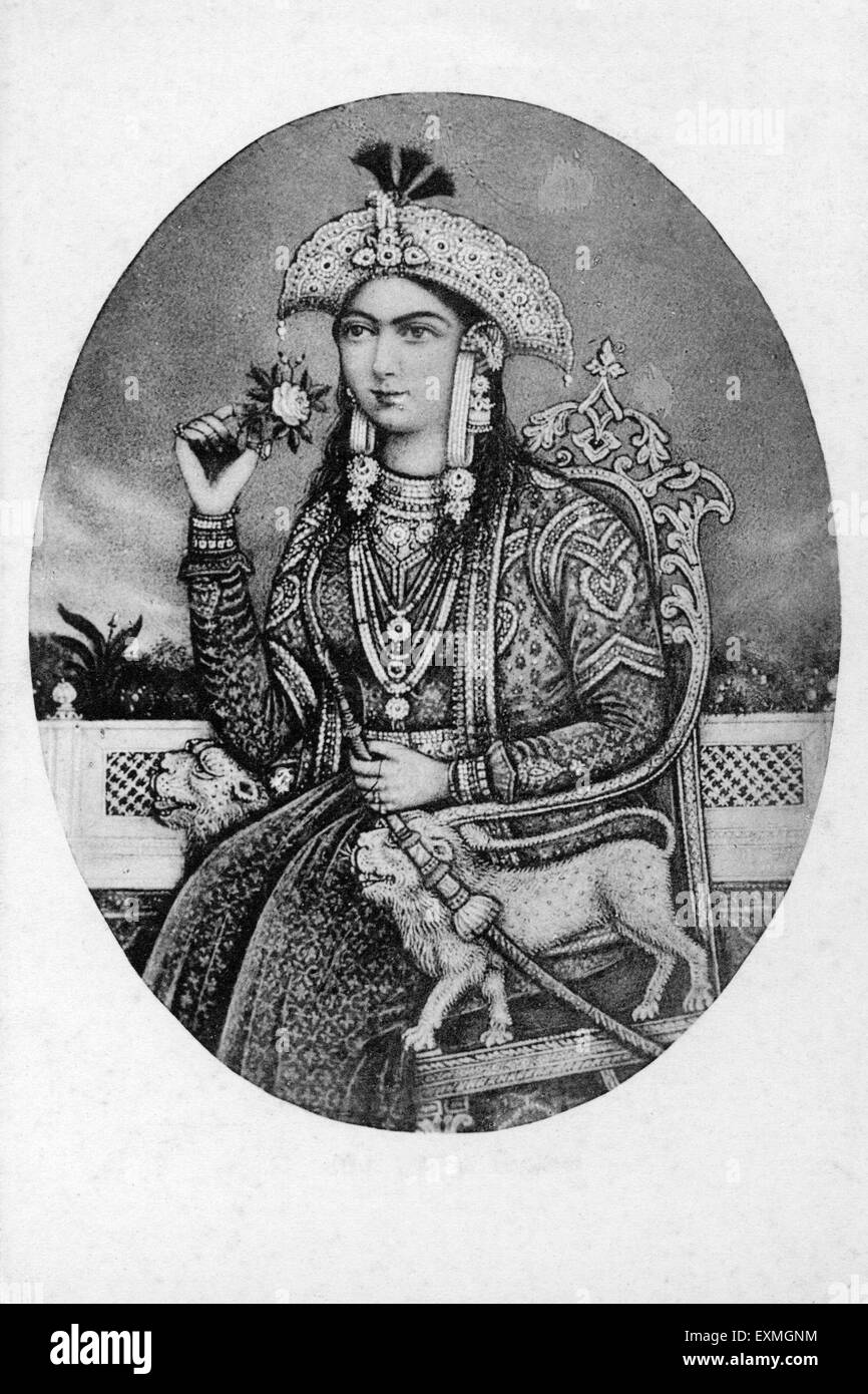 Old picture of the Nur Jahan Begam - Stock Image